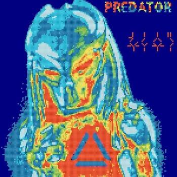 counted Cross Stitch Pattern predator movie logo 146 * 154 stitches CH1892