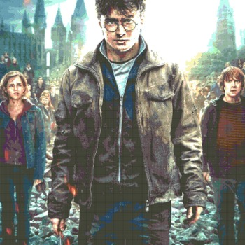 Counted Cross Stitch Pattern Harry Potter It all ends 386 * 483 stitches CH155