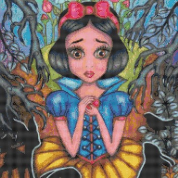 counted Cross stitch pattern Snow white stained 192 * 236 stitches CH2217