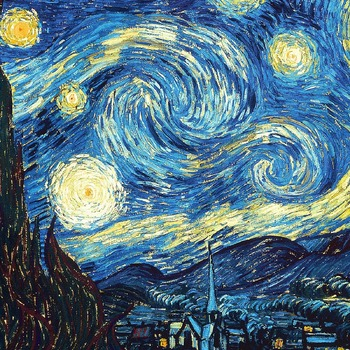 counted Cross Stitch Pattern The starry night Van Gogh 331 x 207 stitches CH387