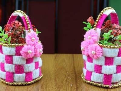 Best reuse ideas - How to make flower vase for home decor || Best out of waste - Flower Vase Making