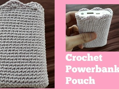 Crochet Powerbank Pouch Case | Bag |Easy for Beginner