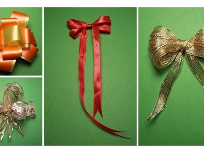 DIY | 4 STYLIST HOW TO MAKE A BOW FOR YOUR GIFT BOX IN A VERY SIMPLE WAY | SHIMMERY AND GLITTERY
