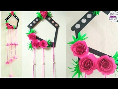 DIY : Ice Cream Stick Crafts| DIY WallHanging Ideas With Ice Cream Stick & Paper | Best Out Of Waste