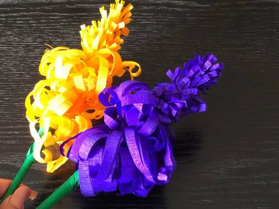 Easy Lavender flower  (crepe paper).Fleur de papier lavande.easy diy.