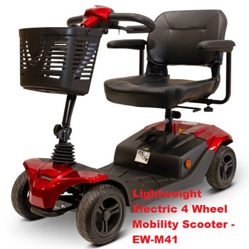 EWheels Lightweight Electric 4 Wheel Mobility Scooter***L@@K***