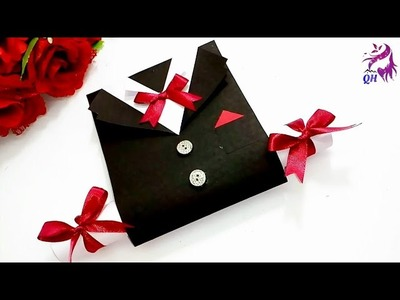 Father's day card |How to make greeting card for father's day |Paper greeting card|Queen's home