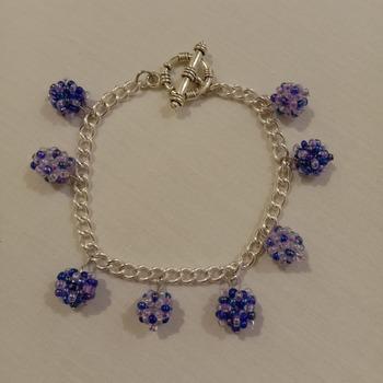 Handmade Beaded Ball Bracelet