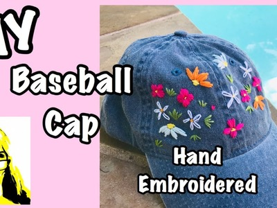 How to Hand Embroider a ???? Baseball Cap ????. Manias Universe