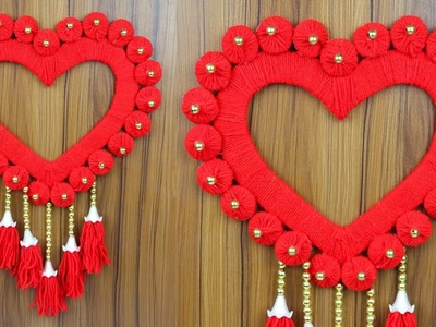 How to make a beautiful woolen wall hanging for home decoration   Woolen craft ideas
