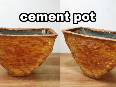 How to make amazing cement pot at home