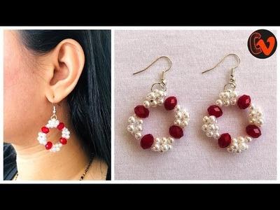 How To Make Beaded Earrings At Home | Beaded Earrings Tutorial