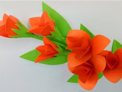 How to Make Beautiful Flower with Paper - Very Easy paper flowers decoration at home