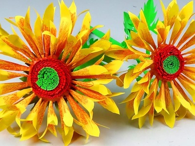 How to Make Beautiful Flower with Paper - E+asy Paper NEW DESIGN Flower  - Handmade Craft