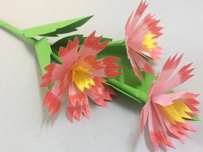 How to Make Beautiful Paper Flower | Easy Paper Flowers for Beginners Making | DIY-Paper Crafts