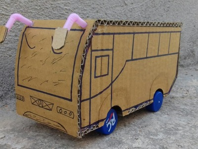 How To Make Cardboard Electric Bus  For Kids