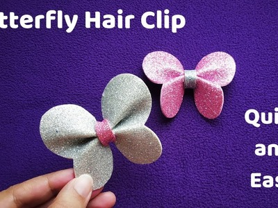 How to make Decorative Foam Butterfly | Hair Bow | DIY Crafts
