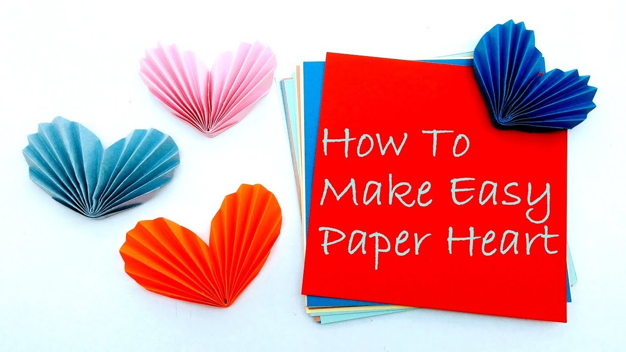How To Make Easy Paper Heart Type-2 | Origami Paper Heart | Summer Crafts For Kids