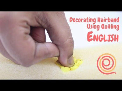 How to make easy quilling designs for hairbands part 1 | English | PQP # 56