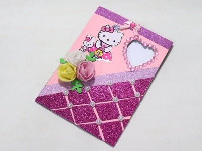 How to make Eid card. DIY Eid card.make beautiful Eid card. DIY Greetings Card. Hello Kitty Card