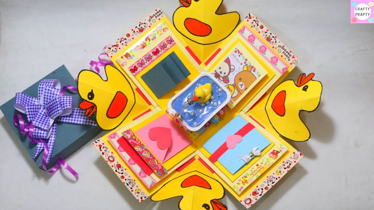 How to make Explosion box. DIY Valentine's Day Explosion Box.Explosion Box Tutorial