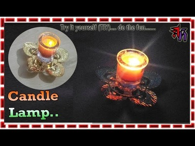 How to make home made candle lamp by Art House| Candle lamp DIY by @rt House