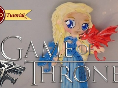 How to make KAWAII Daenery's (GAME OF THRONES)| Clay | Cold Porcelain | Fondant | Cake Topper