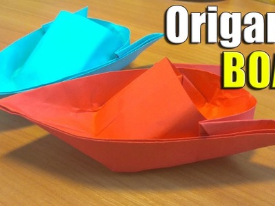 HOW TO MAKE ORIGAMI BOAT. EASY PAPER SHIP TUTORIAL. TOY CRAFTS FOR KIDS