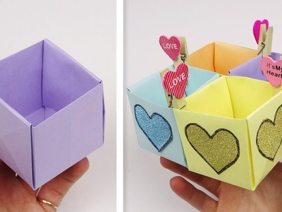 How to make paper box   DIY paper box easy