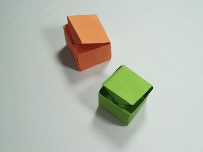 How to make  paper box, paper gift box O rigami, Open and close.