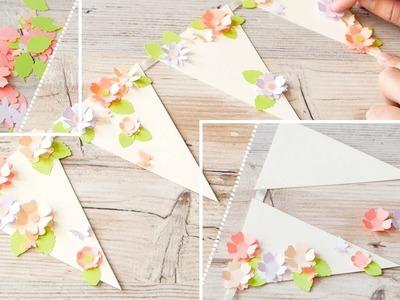 How to make : Paper Garland with Flowers | Papierowa Girlanda z Kwiatami - Mishellka #351 DIY