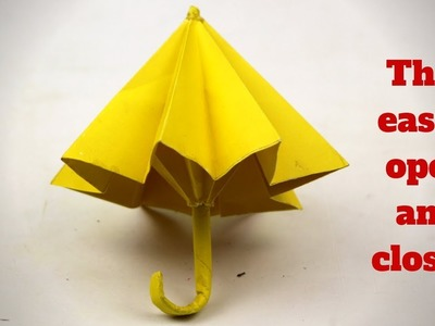 How To Make Paper Umbrella- That easily open and closes|| DIY Arts and Crafts idea