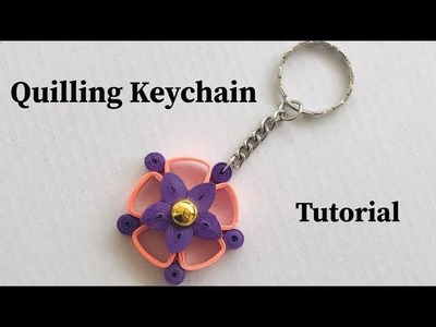 How To Make Quilling Keychain At Home | Quilling Keychain Tutorial