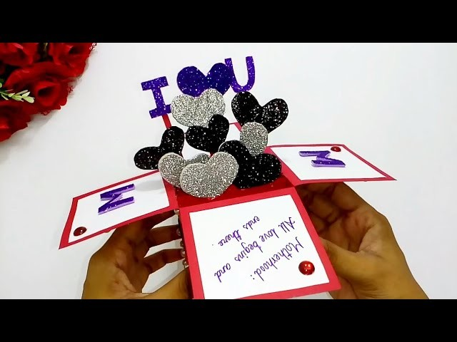 Mother's day card  How to make greeting card for mother's day  Paper greeting card Queen's home