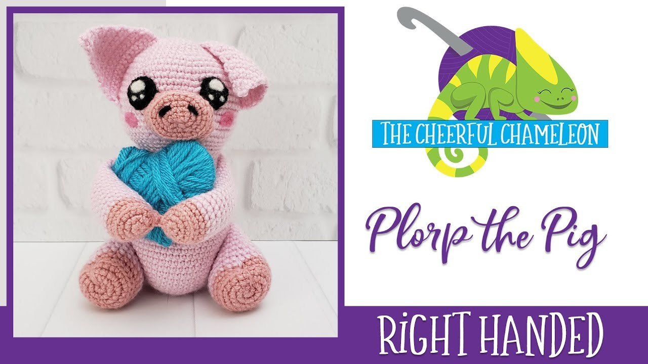 Plorp the Pig Amigurumi Crochet Pattern Right Handed