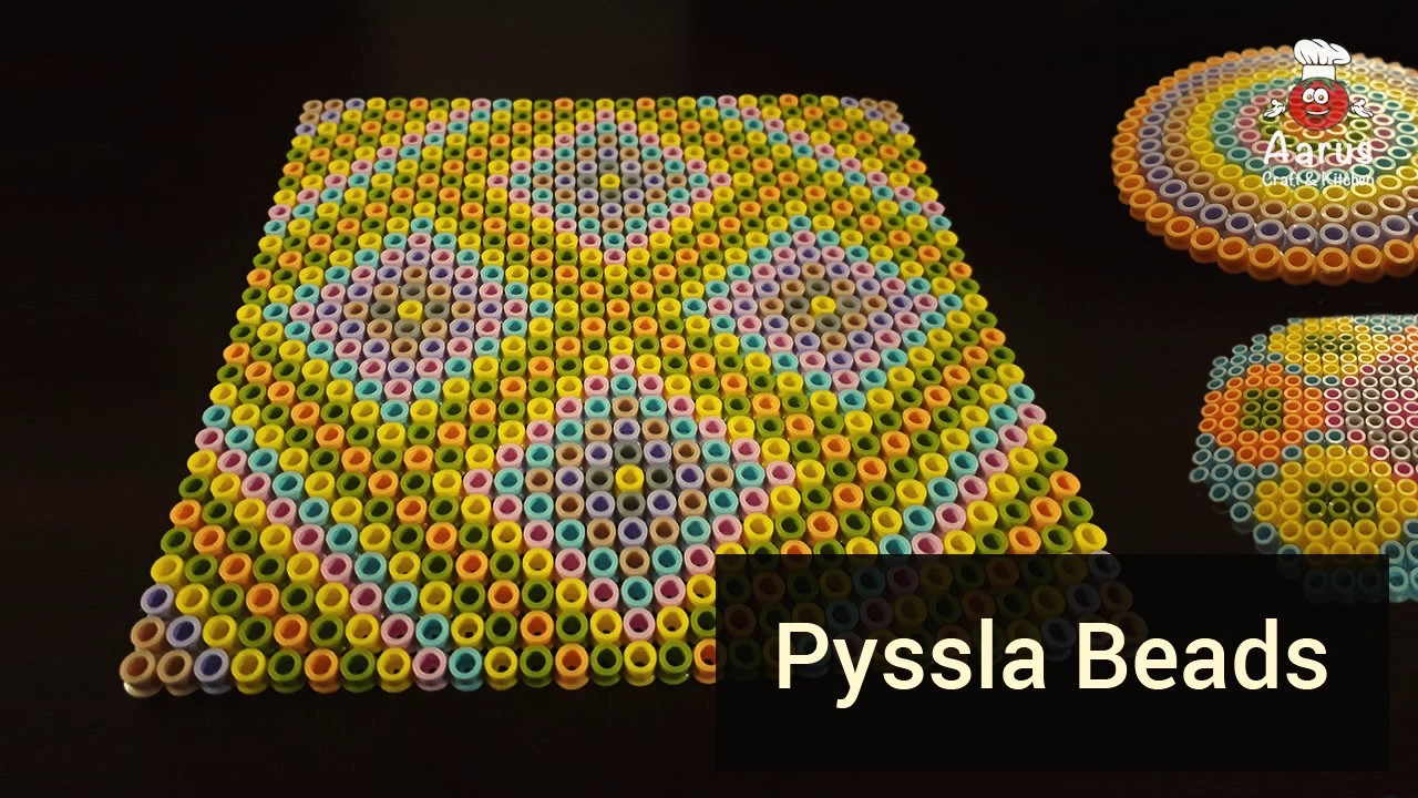Pyssla Beads  | How to create pyssla beads table and glass mat |5 mint craft