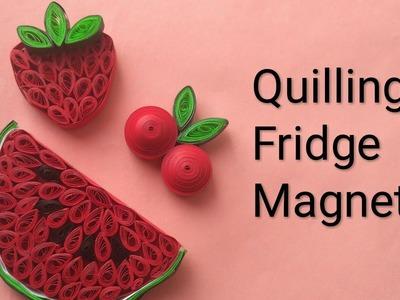 Quilling Fridge Magnet | Quilled Fridge Magnet| How to make quilling fridge magnet