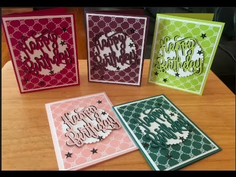 Stampin' Up! 2017-2019 In Color Birthday Cards