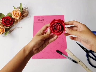 Rose How To Make Paper Rose Very Easy Paper Cutting How To Make