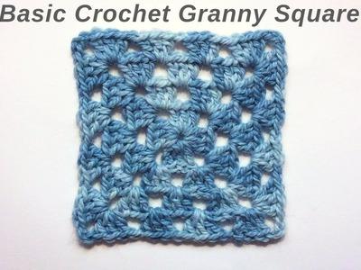 Basic Crochet Granny Square Tutorial Easy For Beginners