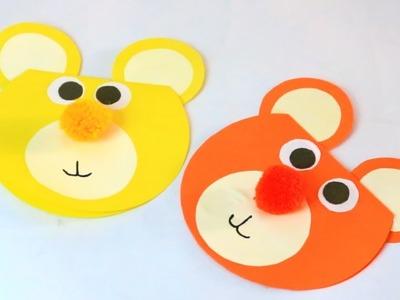 Beautiful Birthday greeting Card Idea |  How To Make Paper Teddy Bear Birthday Card | Bear Craft |