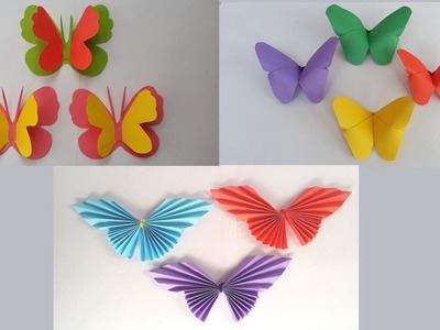 DIY: 3Amazing Paper Butterfly!! How to Make Beautiful Paper Butterfly for Home.Room.Wall Decoration!