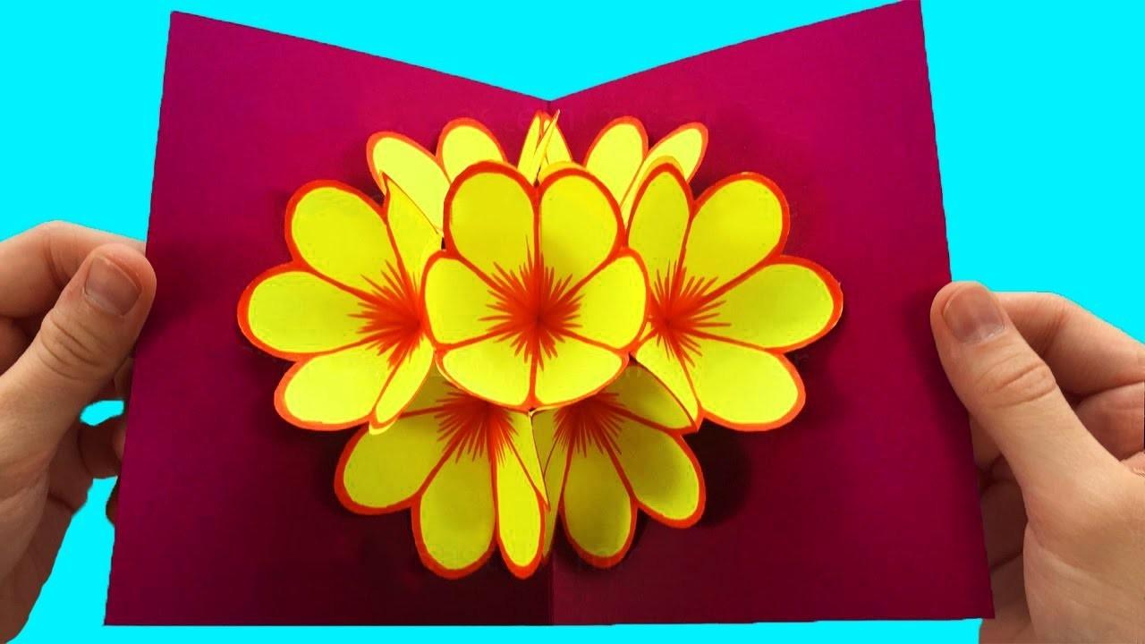3д оригами открытка, написать девушке