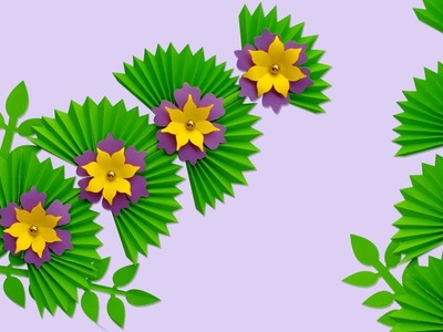 Diy Flower Stick | How to Make Stick Flower | Making Paper Flowers Step by Step | Paper Craft