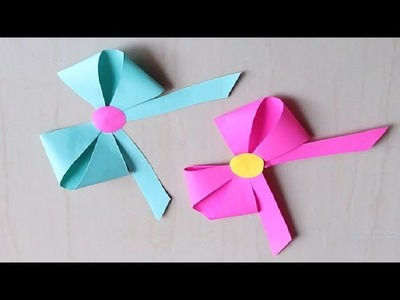 DIY -  How to make a paper Bow.Ribbon | Easy origami Bow.Ribbons for beginners making