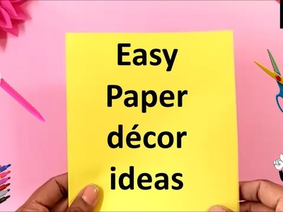Easy paper decor ideas | how to make flowers with paper easy | paper crafts for room decoration