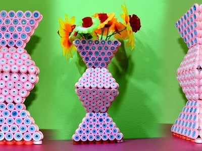 Easy Paper Flower Vase   How to Make a Paper Flower Vase At Home   Quilling Paper Flower Vase  