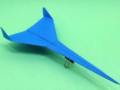 Fast Flying Paper Airplane - How To Make a Paper Plane - Jet Aircraft   Toy Making for Kids