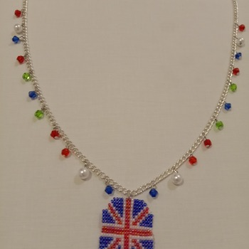 Handmade United Kingdom Octagon Pendant Necklace