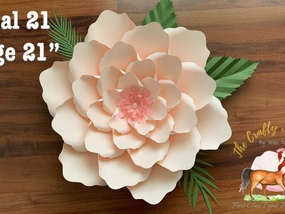 """How to Make 21"""" Paper Flower using Paper Flower Template 21"""